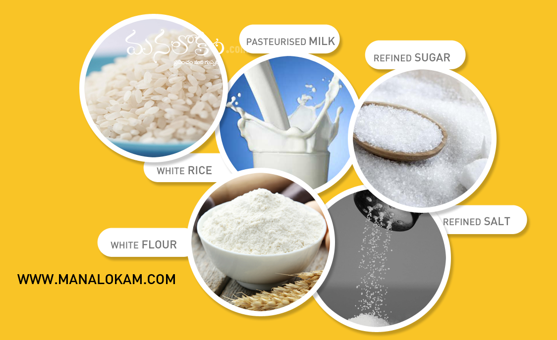 5 white foods to avoid