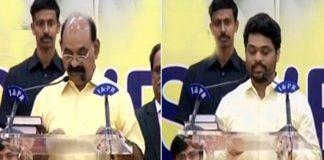 farooqh and kidari sravan kumar takes oath as AP new cabinet