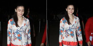 Alia Bhatt spotted with floral night suit in airport