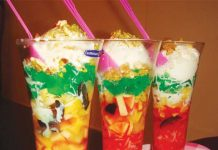 Making various flavours of Faluda