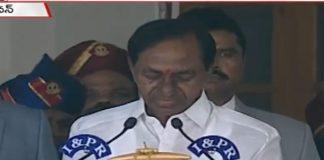 kcr takes oath as second cm of telangana in rajbhavan