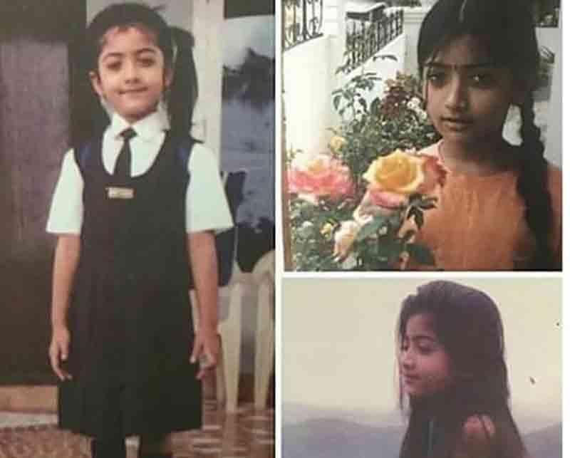 rashmika mandanna childhood photos goes viral