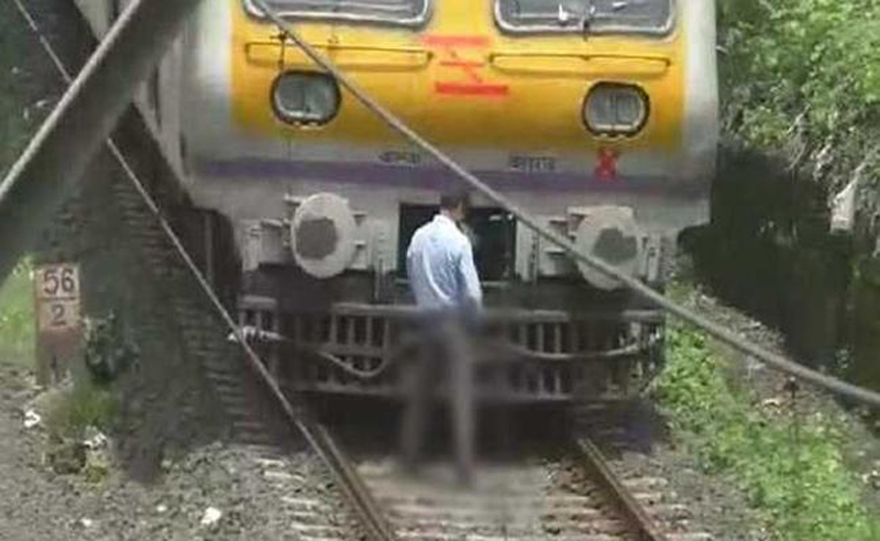 mumbai local train driver peeing in front of train video goes viral