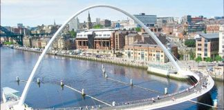 Where is Gateshead Millennium Bridge