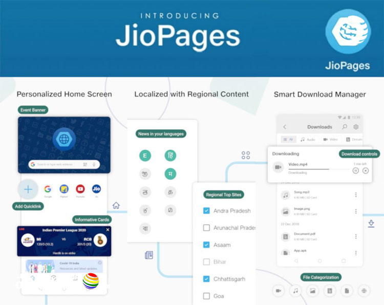 Reliance Jio launched JioPages browser